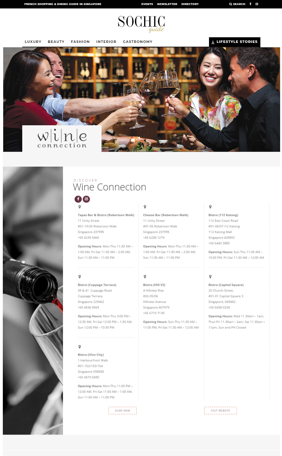 Luncheon @ Wine Connection, Capital Square: May 2018 | FOCUS